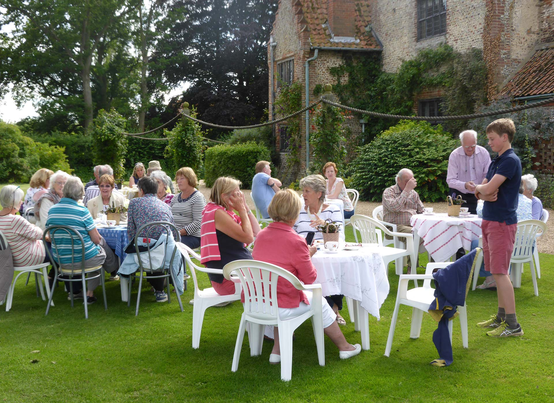 Garden Groups at Hindringham Hall, Norfolk